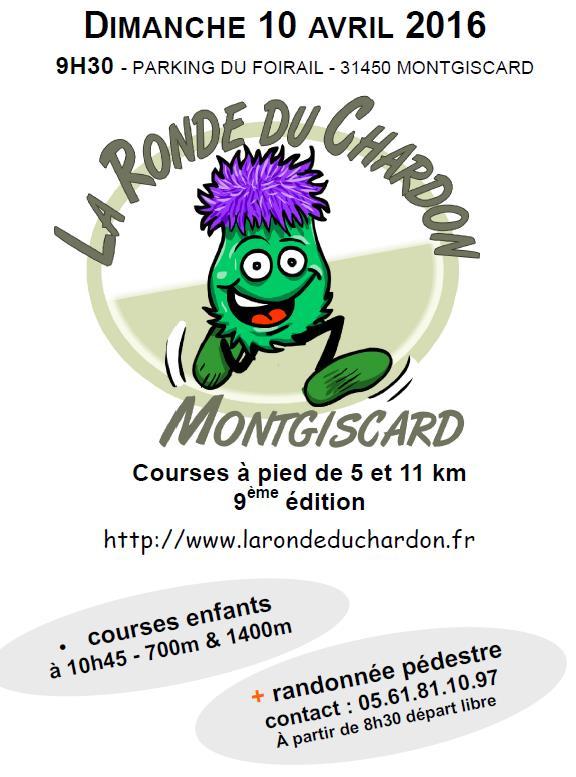 9ème ronde du Chardon le dimanche 10 avril