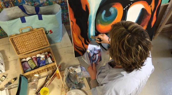 L'atelier Dessin/Peinture du FJEP s'expose