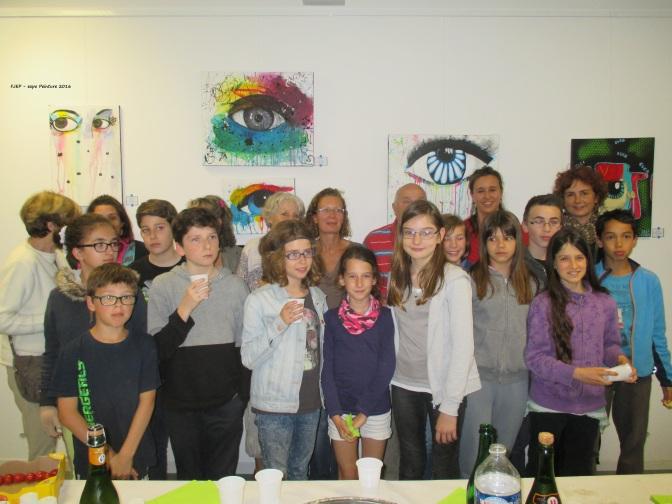 L'expo de l'Atelier Peinture du FJEP est ouverte