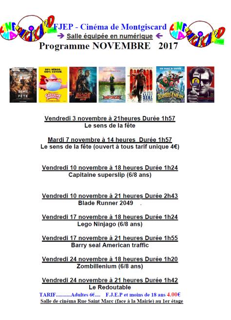 cinéma novembre 2017