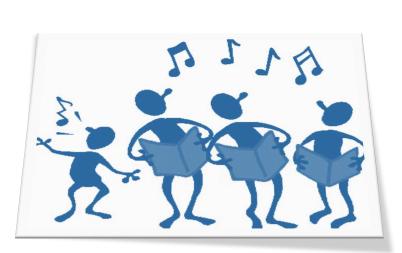 bandeau chorale bleu